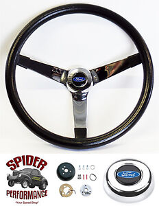 1963 1964 Fairlane Galaxie Steering Wheel Blue Oval 14 3 4 Vintage Grant