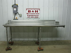 86 1 2 Stainless Steel Heavy Duty Left Side Clean Hobart Dish Washer Table 7