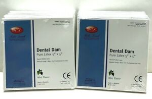 Dental Natural Rubber Dam Blue Medium 6 X 6 Sheets Latex Kit 10 Box Ehros