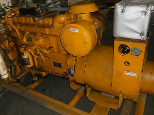 Caterpillar D333 Diesel Generator Complete Low Hours Serviced