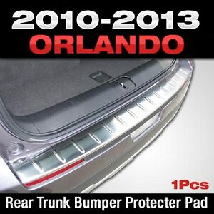 Stainless Rear Trunk Bumper Pad Protector For Chevrolet Holden 2010 2017 Orlando