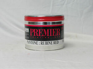 5 Lbs Pantone Rubine Red Commercial Sheetfed Offset Printing Ink