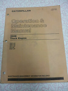 Cat 3208 Operation And Maintenance Manual