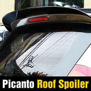 Rear Window Wing Roof Spoiler Aero Parts Painted For Kia 2011 2017 Picanto