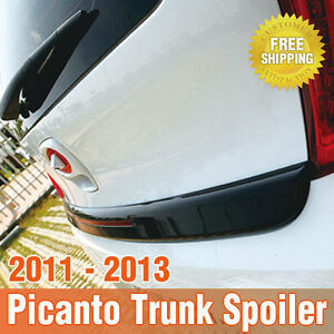 Trunk Middle Rear Wing Spoiler Painted For Kia 2011 2012 2013 2014 Picanto