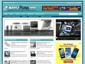 New Wireless Cell Smartphone Wp Blog Website For Sale