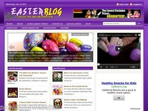 Easter Sunday Decor Candy Niche Wordpress Blog Website For Sale