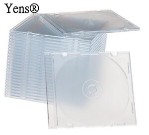 Yens 200 New Clear Single Slim Cd Dvd Jewel Case 5 2mm 200 5ccd