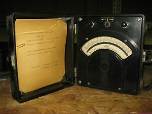 Vintage Westinghouse Portable Ac Average Voltmeter Type Pn 35 tag 16