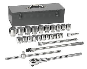 27pc Gearwrench 3 4dr Sae Socket Set With Ratchet And Box 7 8 To 2 3 8 80880