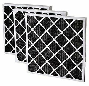 24 X 24 X 2 Carbon Pleated Filter Negative Air Machine Filter Case Of 12