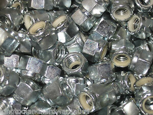 Deal Box Of 2500 Hex Head Nylon Insert Lock Nuts 3 8 16 Thread Zinc Plated