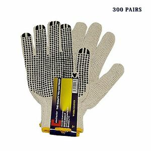 constructor Pvc Knitted Dotted Gloves Good For Medium Large Sizes 300 Pairs