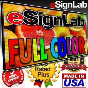 Led Sign Full Color 28 X 78 Programmable Scrolling Outdoor Message Display
