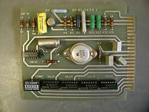Fellows Amplifier Printed Circuit Board 01 01 2420 1 For Fellows Shapers
