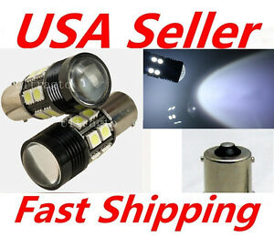2x 10w S25 P21w 1156 Cree Projector 12 Led 5050 Smd Backup Brake Tail Light