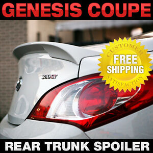 Rear Trunk Lip Spoiler Lid Airoparts Black For Hyundai 09 2017 Genesis Coupe