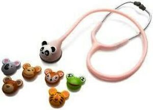 Adscope 618 Pink Adimal Pediatric Stethoscope W Interchangeable Animal Faces