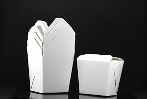 400x 8oz Chinese Take Out To Go Boxes Microwavable Party Gift Boxes White