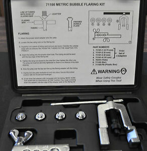 Mastercool Metric Bubble Flaring Tool Set 71100