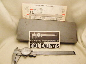 Mitutoyo Dial Caliper Quadri 4 way Measurment Brazil 001 505 626 6 In Case