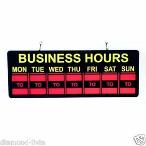 Mystiglo In light Led Business Hours Sign Super Bright Energy efficient Led Tech