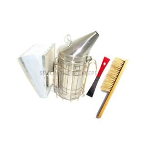 Beekeeping Tool Package Stainless Steel Smoker Red Hive Tool