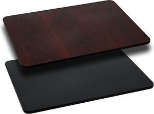 30 X 48 Restaurant Table Top With Black Or Mahogany Reversible Laminate Top