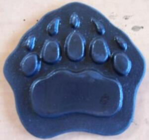 Cement Concrete Plaster Stamp Grizzly Bear Paw 13 Border Art Stamps Mats New