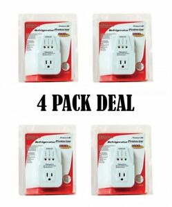 4 Pack Refrigerator 1800 Watts Voltage Brownout Appliance Surge Protector New