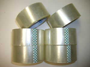 Clear Tape Packaging Packing Sealing Moving 25 Rolls 1 88 Inch X 78 7 Yard