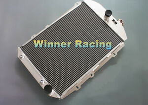 56mm Aluminum Radiator For Chevy Hot Street Rod 350 V8 W Tranny Cooler A T 1938