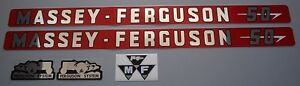 Massey ferguson Mf 50 Mf50 Tractor Basic Decal Set