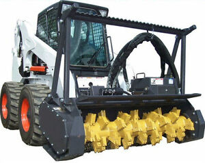 Skid Steer Mulcher 60 High Flow Universal Quick Tach Non reversable Teeth