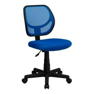 Mid back Blue Mesh Task Chair And Computer Chair Home Office School