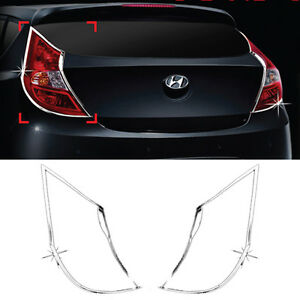 Chrome Rear Lamp Molding C401 For Hyundai 2011 16 Solaris Accent Venra Hatchback