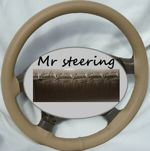For Toyota Tacoma Mk1 95 04 Real Beige Best Italian Leather Steering Wheel Cover