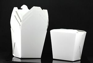 400x 26oz Chinese Take Out To Go Boxes Microwavable Party Gift Boxes White