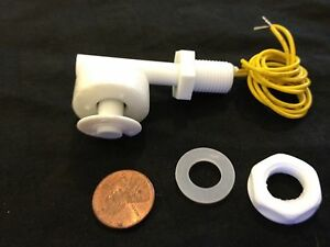White Pp Liquid Water Level Sensor Right Angle Float Switch N c N o B21