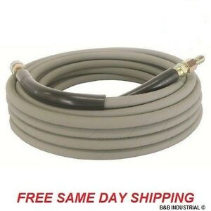 50 Foot Non marking Pressure Washer Hose 4000 Psi 50 Ft Length 50 Gray
