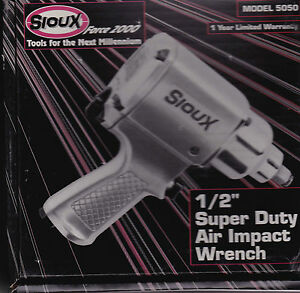 Sioux Air Operated 1 2 Inch Drive Air Impact Wrench Super Duty Made In Japan New