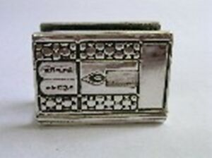 Match Box Holder Case Cover Antique Tablets Design Sterling Silver 925 Judaica