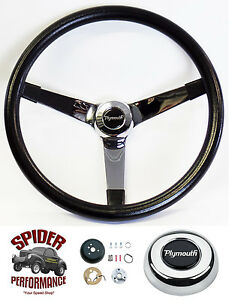 1961 1966 Fury Valiant Belvedere Steering Wheel Plymouth 14 3 4 Vintage Chrome