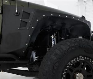 Fits 2007 2018 Jeep Wrangler Unlimited Jk Xrc Armor Front Fenders 76880 Trail