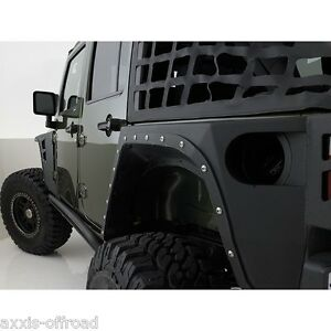 Fits 2007 2018 Jeep Wrangler Unlimited Jk Xrc Armor Rear Fenders 76882 Jk Armor