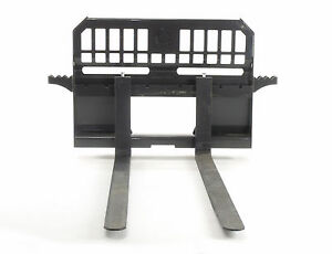 Skid Steer Pallet Forks 48 Long Rated 4000 Lbs Professional Series