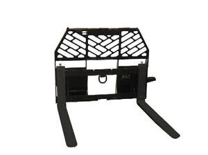 Skid Steer Pallet Fork Attachment Industrial Series 48 Rated To 6000 Lbs