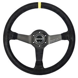 Sparco R 345 Suede Steering Wheel 350mm R345 Racing Competition Dished