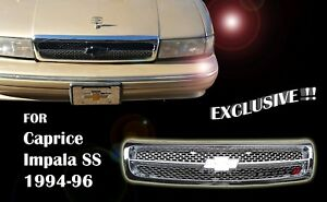 Chevy Impala Ss Caprice 1994 96 Grille Fully Chrome Gm1200450 10269614 Exclusive