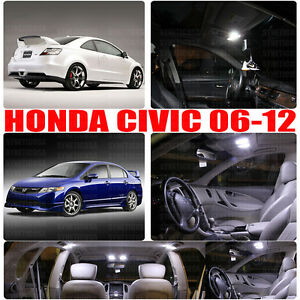 4x Interior White Led Light Bulbs Package For 2006 12 Civic Coupe 2dr Sedan 4dr